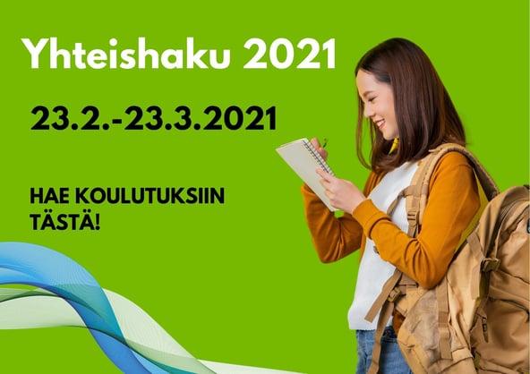 Yhteishaku kevät 2021