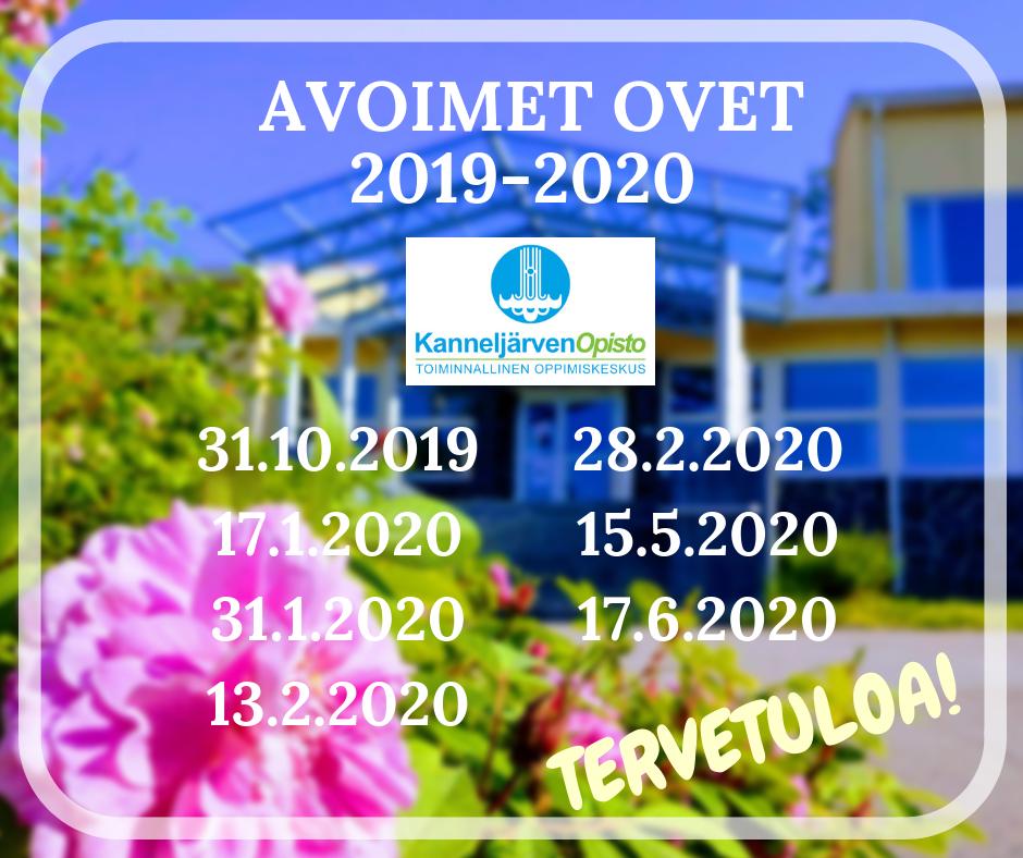 Avoimet ovet 2019-2020
